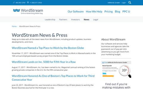 Search Marketing News & Press Releases   WordStream