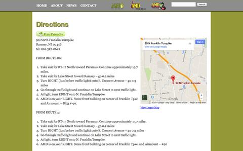 Screenshot of Maps & Directions Page amdoilsales.com - Directions | AMD Oil Sales - captured Oct. 4, 2014