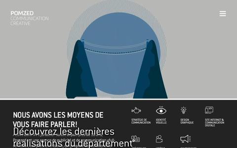 Screenshot of Home Page pomzed.ch - Pomzed / Communication créative / Jura, Bienne et Neuchâtel - captured June 23, 2019