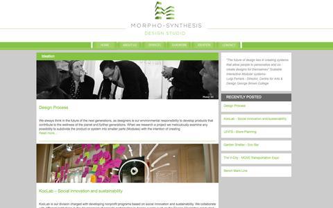 Screenshot of Blog morphosis.ca - Ideation « - captured Oct. 3, 2014