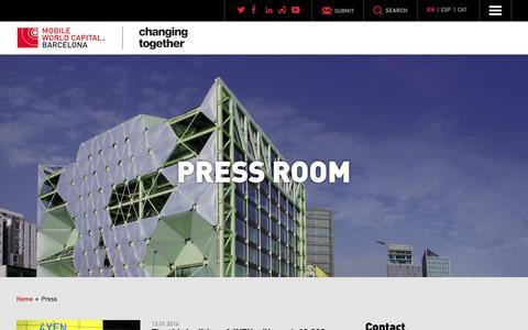 Screenshot of Press Page mobileworldcapital.com - Press Archive - Mobile World Capital Barcelona - captured Jan. 19, 2016