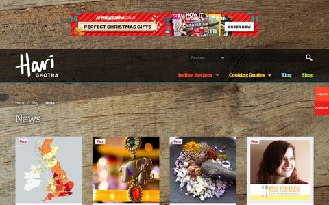 Screenshot of Press Page harighotra.co.uk - News - captured Dec. 7, 2015