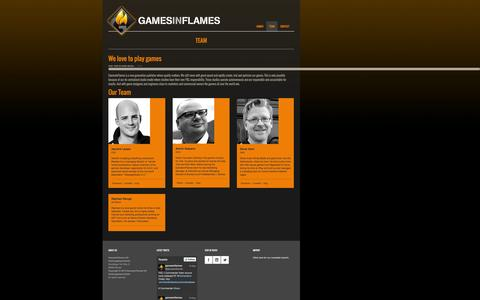 Screenshot of Team Page gamesinflames.com - Team | Games In Flames - captured Sept. 29, 2014
