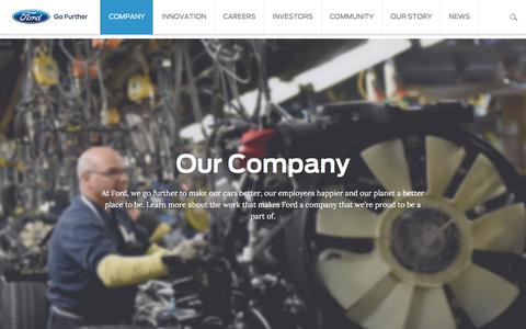 Screenshot of ford.com - Ford Motor Company: Company Information | Ford.com - captured Oct. 13, 2017