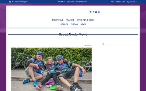 Screenshot of Press Page greatrun.org - Great Manchester Cycle - captured Nov. 19, 2016