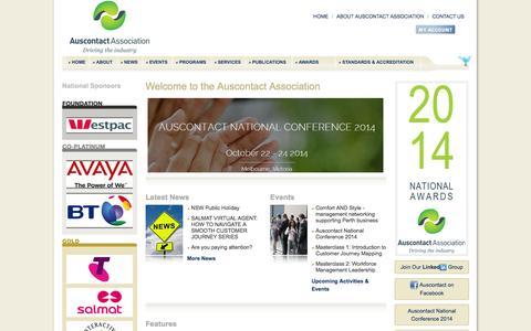 Screenshot of Terms Page ccma.asn.au - Auscontact Association - captured Oct. 3, 2014