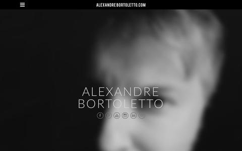 Screenshot of Home Page alexandrebortoletto.com - ALEXANDRE BORTOLETTO.com - Home - captured Oct. 6, 2017