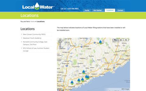 Screenshot of Locations Page localwater.com - Locations «  Local Water - captured Oct. 3, 2014
