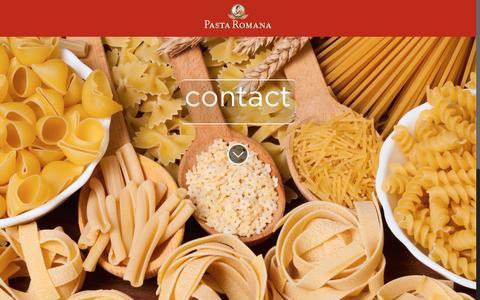 Screenshot of Contact Page pastaromana.com - Contact - Pasta RomanaPasta Romana - captured Feb. 5, 2016