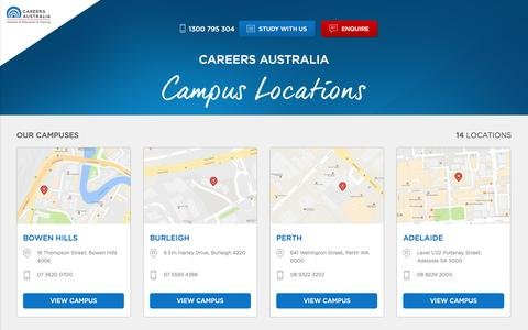 Screenshot of Locations Page careersaustralia.edu.au - Locations - captured May 14, 2017