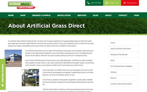 Screenshot of About Page artificialgrass-direct.com - About Us - Supplying Artificial Grass For Over 15 Years - Artificial Grass Direct - captured Oct. 8, 2017