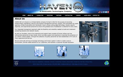 Screenshot of About Page haven365.com - About Us | Haven 365 - captured Oct. 2, 2014