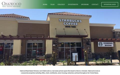 Screenshot of Home Page oakwoodre.com - Oakwood Real Estate Partners - captured July 14, 2017