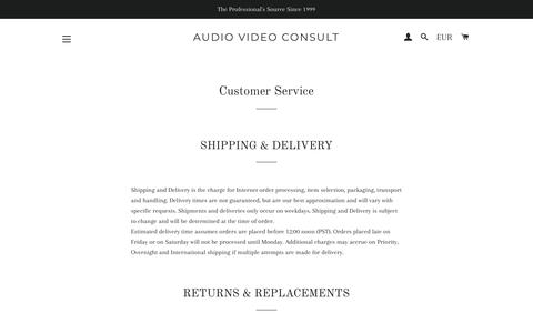 Screenshot of Support Page avc.bg - Customer Service – Audio Video Consult - captured Oct. 4, 2018