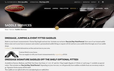 Screenshot of Services Page mysaddle.com - Saddle Services - My Saddle - captured Nov. 12, 2016