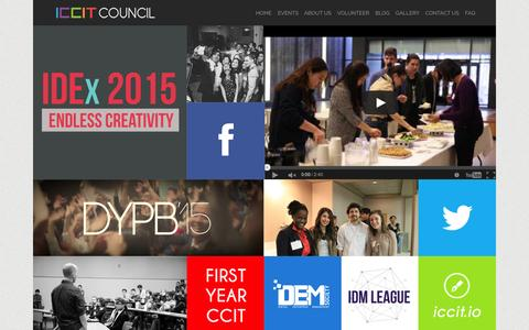Screenshot of Home Page iccitcouncil.com - The ICCIT Council - captured July 16, 2015