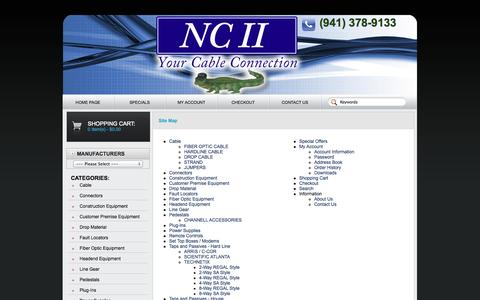 Screenshot of Site Map Page nctwo.com - Site Map - captured Oct. 6, 2014