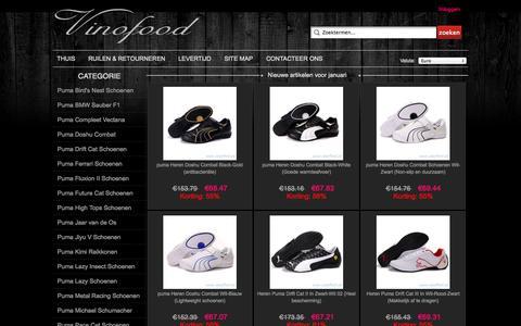 Screenshot of Home Page vinofood.nl - Officiële Puma schoenen Online Nederland - captured Jan. 26, 2015