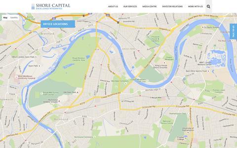 Screenshot of Contact Page shorecap.co.uk - Shore Capital - Contact us - captured Feb. 16, 2016