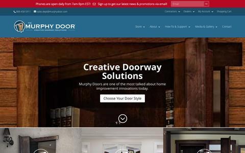 Screenshot of Home Page themurphydoor.com - Murphy Door | Creative Doorway Solutions - captured Jan. 25, 2016