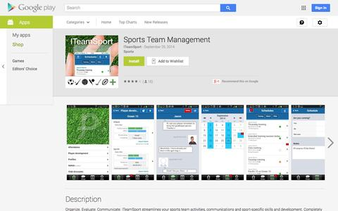 Screenshot of Android App Page google.com - Sports Team Management - Android Apps on Google Play - captured Nov. 2, 2014