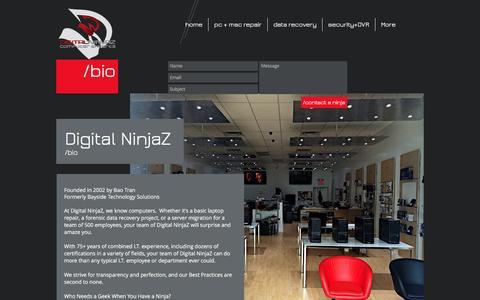 Screenshot of About Page digitalninjaz.com - digital ninjaz, computer repair clearwater - captured Nov. 24, 2016