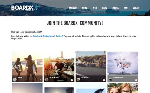 Screenshot of Blog boardx.be - Join the BoardX-community! - BoardX - captured July 29, 2016