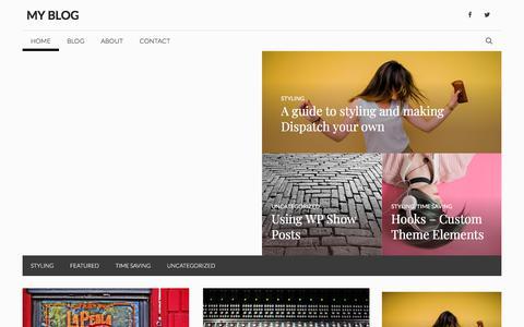 Screenshot of Home Page expert-electrician.com - My Blog - captured Nov. 12, 2019