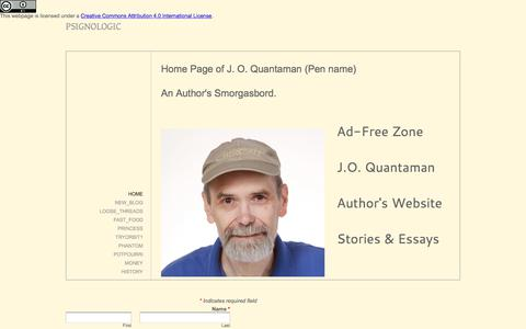 Screenshot of Home Page psignologic.net - psignologic - Home - captured July 2, 2018