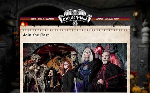 Screenshot of Signup Page castleblood.com - Join the Cast - Castle Blood - captured Oct. 26, 2018