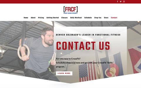 Screenshot of Contact Page frontrangecrossfit.com - Contact | Front Range CrossFit - captured Jan. 26, 2020