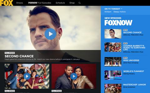 Screenshot of Home Page fox.com - FOX Broadcasting Company | Full Episodes, Shows, Schedule - captured Dec. 26, 2015
