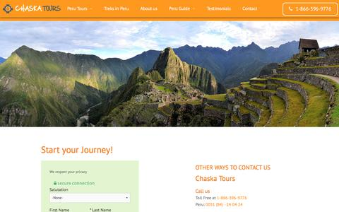 Screenshot of Contact Page chaskatours.com - Start your Journey! | Chaskatours - captured May 16, 2017