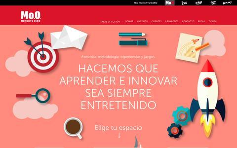 Screenshot of Home Page momentocero.cl - Momento Cero - captured Jan. 27, 2016
