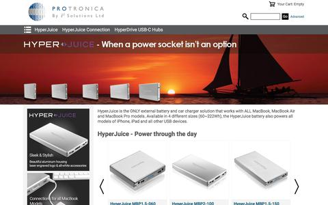 Screenshot of Home Page protronica.co.uk - Home - Protronica - Technology for People on the Move - captured Sept. 14, 2017