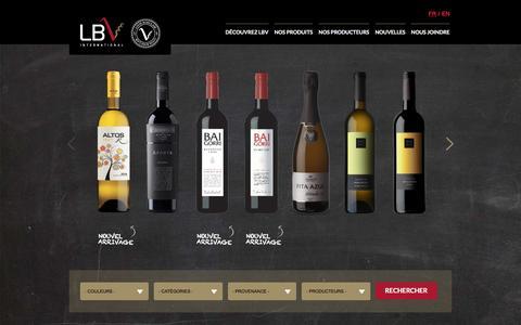Screenshot of Home Page lbvinternational.com - LBV International | Agence de vin - Importation et vente au Québec - captured May 11, 2017
