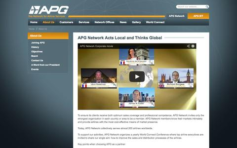 Screenshot of About Page apg-ga.com - About Us - APG Network - captured Oct. 4, 2014