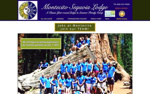 Screenshot of Jobs Page mslodge.com - Jobs Page for Montecito Sequoia Lodge & Summer Family Camp - captured Oct. 27, 2017