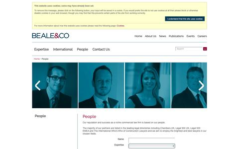 Screenshot of Team Page beale-law.com - Beale and Company People - captured Nov. 13, 2018