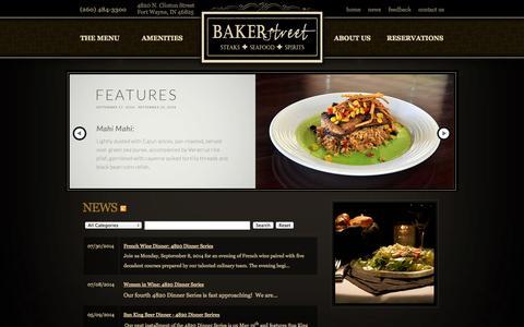Screenshot of Press Page bakerstreetfortwayne.com - Baker Street | Steaks - Seafood - Spirits - captured Oct. 5, 2014