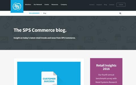 Screenshot of Blog spscommerce.com - Blog   SPS Commerce - captured Aug. 2, 2016