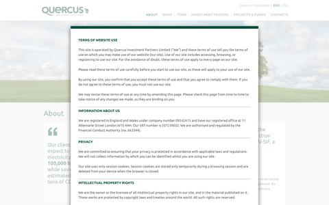 Screenshot of About Page quercus-partners.com - About - Quercus Investment Partners - captured Feb. 2, 2016
