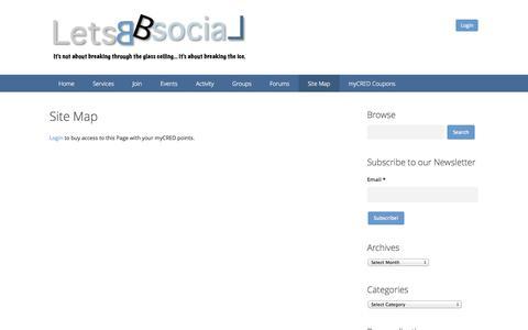 Screenshot of Site Map Page letsbsocial.com - Site Map | LetsBSocial - captured Oct. 6, 2014