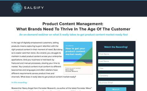 Product Content Management: What Brands Need To Thrive In The Age Of The Customer