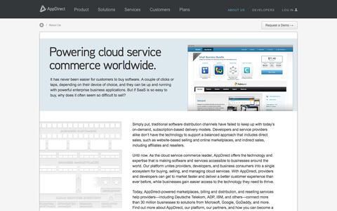 Screenshot of About Page appdirect.com - About AppDirect, the Leader in Cloud Service Commerce - AppDirect - captured Sept. 1, 2016