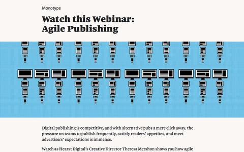 Screenshot of Landing Page monotype.com - Webinar: Agile Publishing - captured Feb. 5, 2017