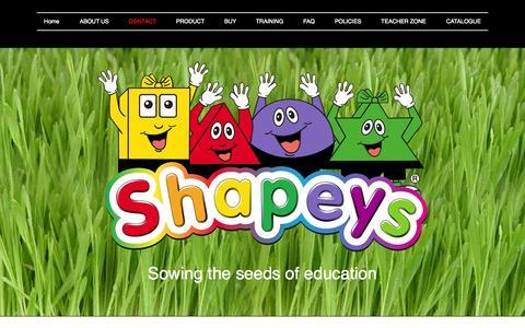 Screenshot of Contact Page shapeys.com - Contact | Shapeys - captured Nov. 5, 2014