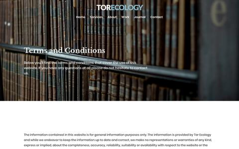 Screenshot of Terms Page torecology.co.uk - Meet the team | Tor Ecology - A South West Ecological Consultancy - captured Oct. 20, 2018