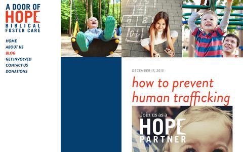 Screenshot of Blog adoorofhope.com - Blog - A Door of Hope : A Door of Hope - captured Dec. 26, 2016