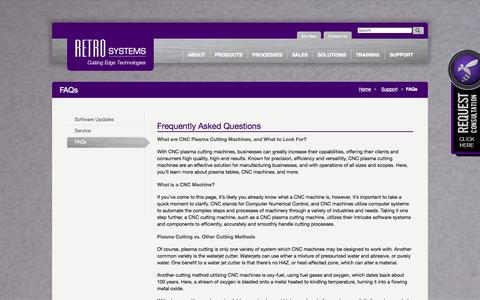 Screenshot of FAQ Page retrosystems.com - FAQs « Retro Systems Retro Systems - captured Oct. 6, 2014